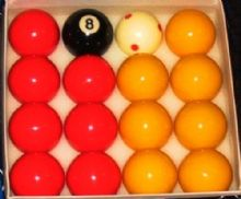 "2""(51mm) COMPETITION POOL TABLE BALLS 1 7/8 Red Spot Match (47.5mm) Cue ball"